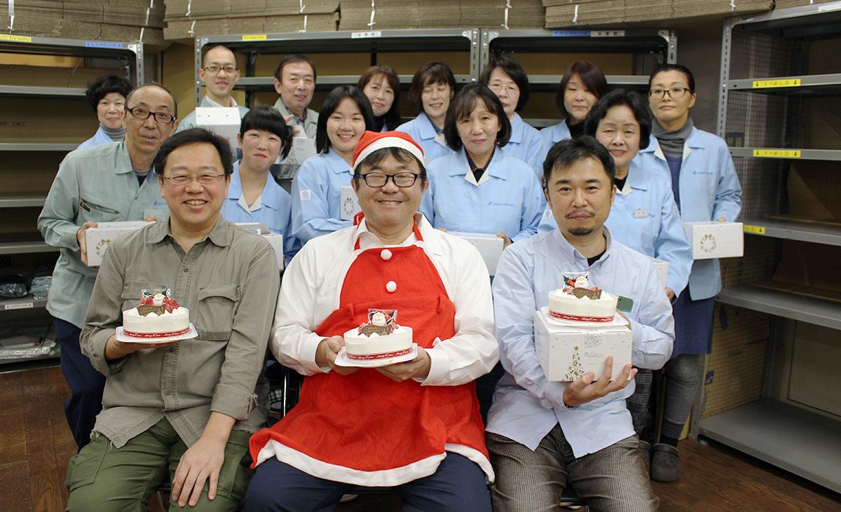 今日はクリスマスケーキをお渡しできる日