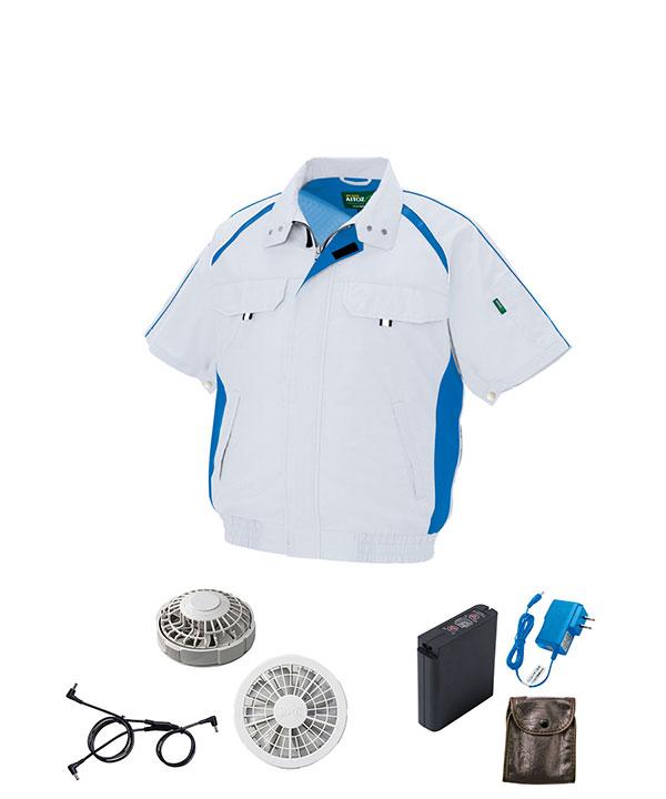 ファン付き半袖作業服セット