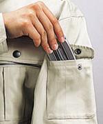 左袖機能ポケット(ペン差し付き)