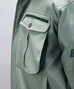胸ポケット(システムフラップ付)