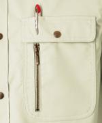 左胸ポケット<br>(ペン差し付)