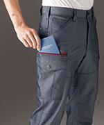 長財布・レベルブック収納ポケット<br>(右・深さ23.0cm)