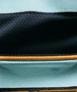 ネック吸汗ニット素材<br>カラーパイピング<br>kr9051秋冬用長袖ブルゾン