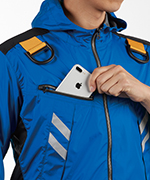 携帯電話収納ポケット(右胸)