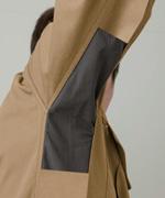 袖立体縫製で、つっぱり感が無く腕の動きがスムーズ
