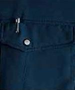 左胸ペン差し付ポケット