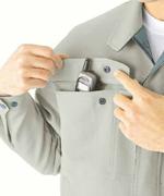 右胸、携帯電話収納ポケット付