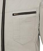 左胸ファスナー付きポケット